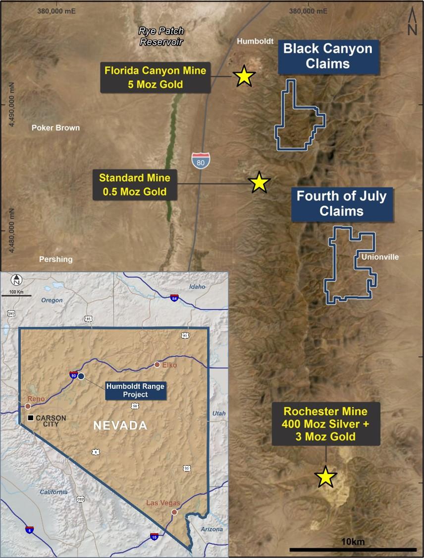 Humboldt-Nevada location map