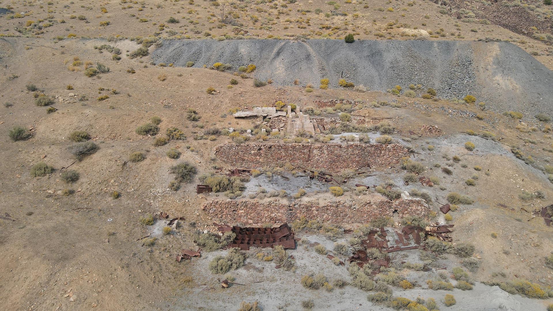 Processing plant site at Arizona Mine FOJ
